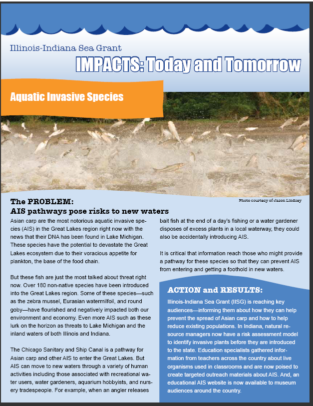 Illinois-Indiana Sea Grant Impacts: Today and Tomorrow Aquatic Invasive Species Thumbnail