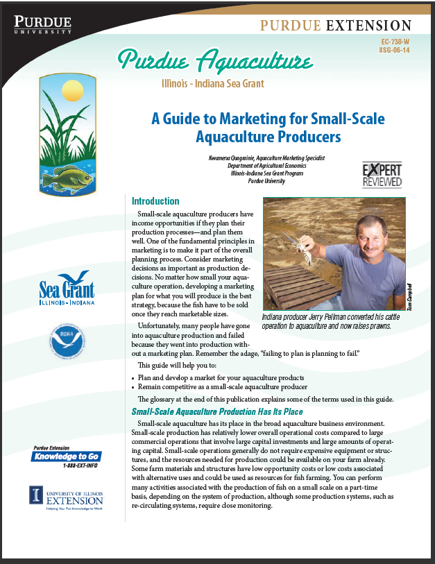 A Guide to Marketing for Small-Scale Aquaculture Producers Thumbnail