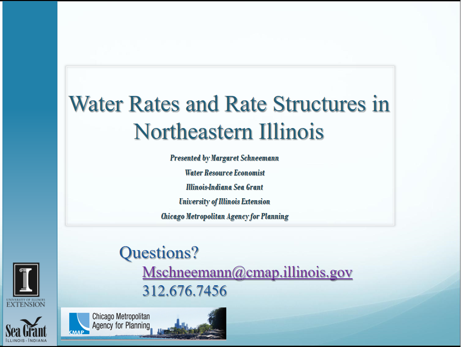 Water Rates and Rate Structures in Northeastern Illinois Thumbnail