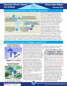 Quarterly Climate Impacts and Outlook - December 2018, first page