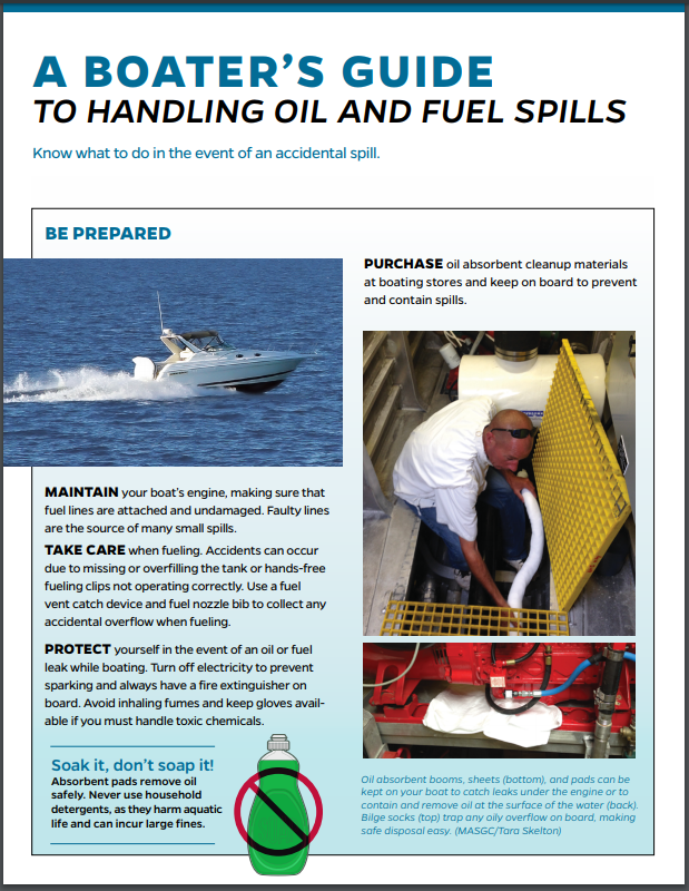 A Boater's Guide to Handling Oil and Fuel Spills Thumbnail