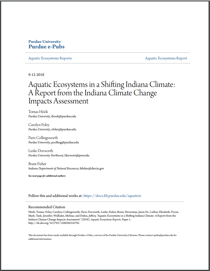 Aquatic Ecosystems in a Shifting Indiana Climate Thumbnail