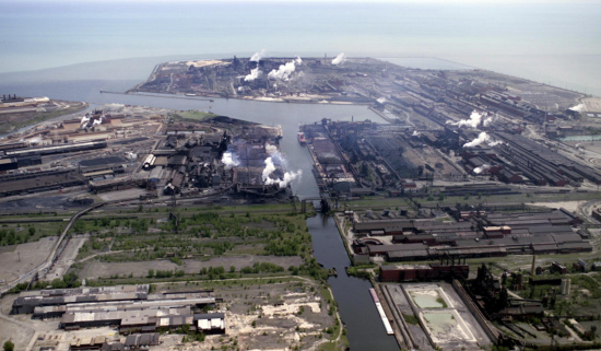 aerial view of Indiana Harbor and Ship Canal