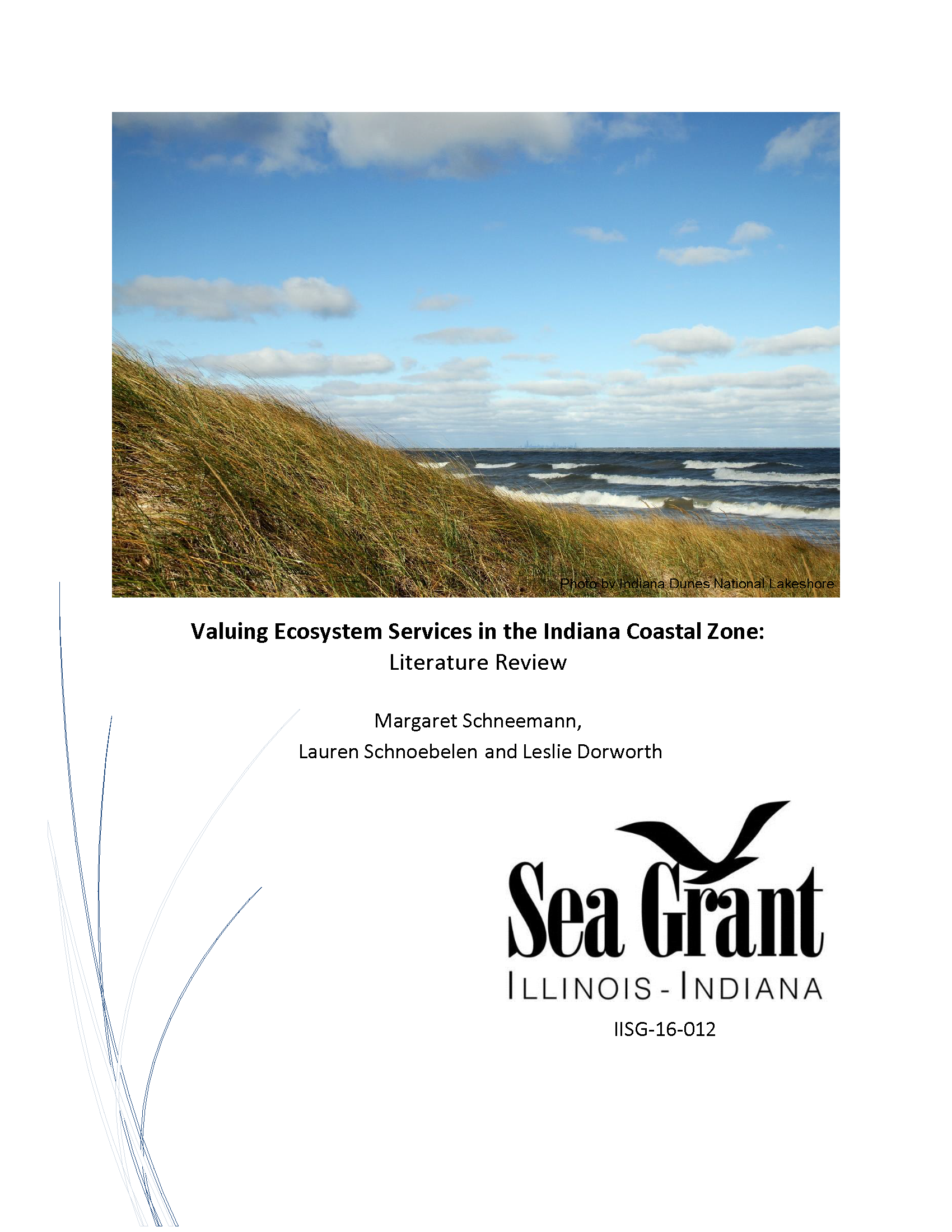 Valuing Ecosystem Services in the Indiana Coastal Zone: Literature Review Thumbnail