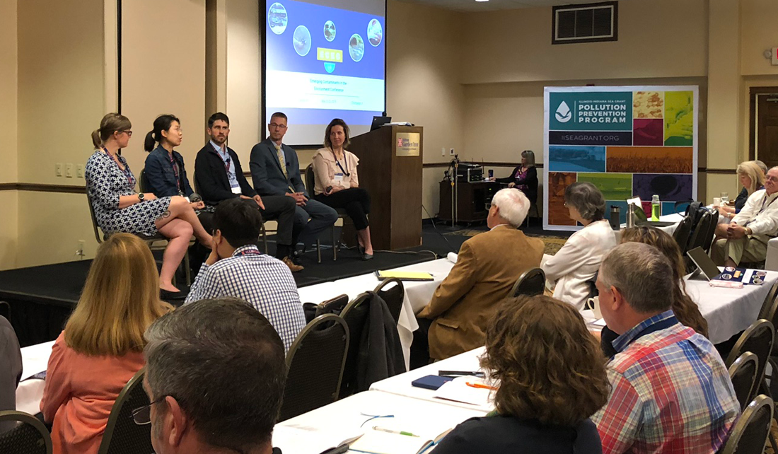 A panel of speakers discuss environmental contaminants at the 2019 Emerging Contaminants in the Environment Conference