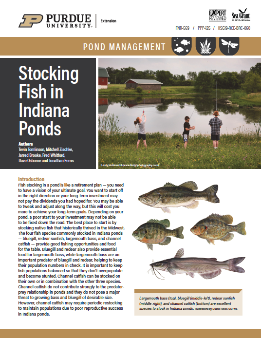 Pond Management: Stocking Fish in Indiana Ponds Thumbnail