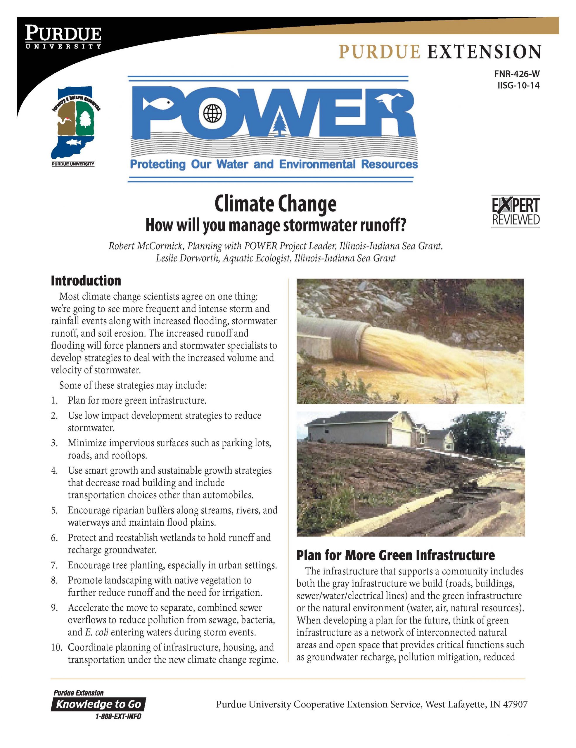Climate Change: How will you manage stormwater runoff? Thumbnail