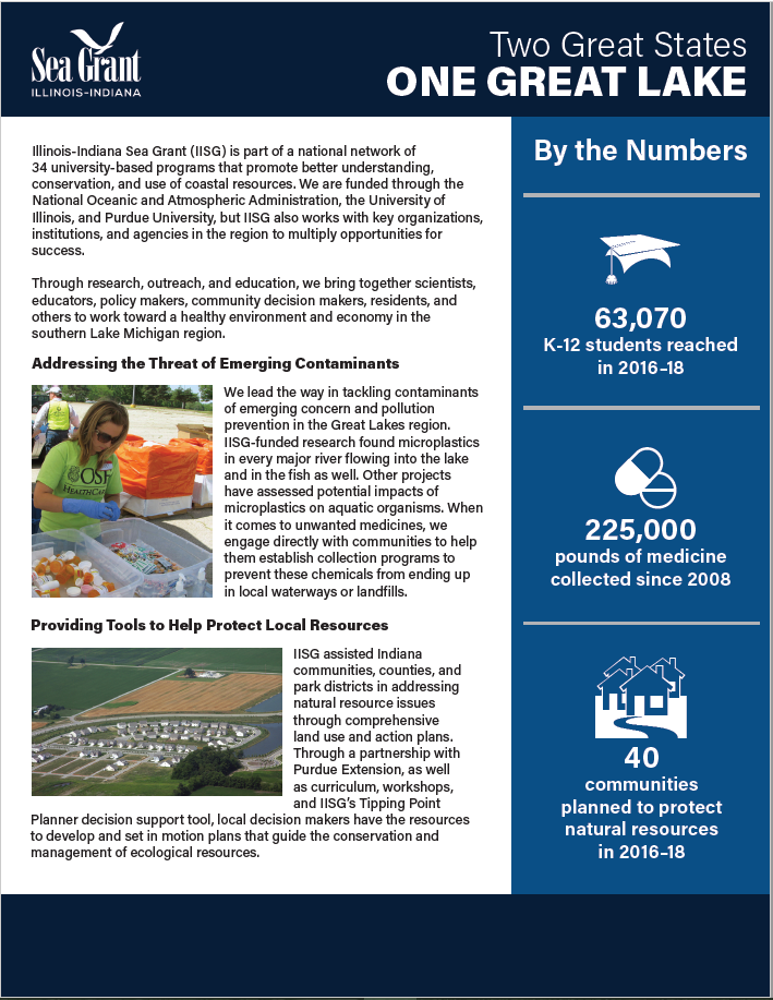 Illinois-Indiana Sea Grant 2018 By the Numbers (Indiana) Thumbnail