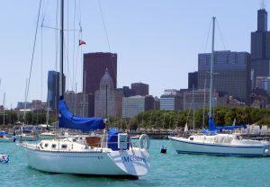 Sailboat along Chicago