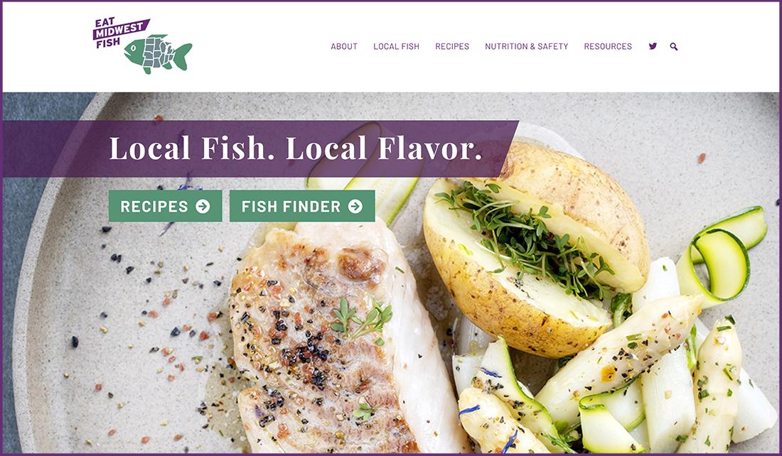 homepage screenshot of Eat Midwest Fish website