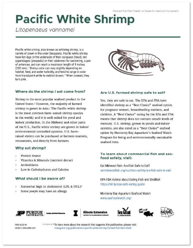 Pacific White Shrimp Farmed Fish Fact Sheet Thumbnail