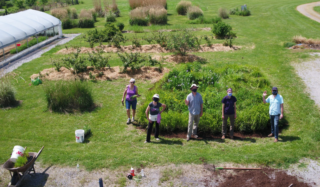 Rainscaping participants in Jackson County in Illinois